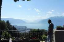 1 Mick taking in the view of Lac Léman