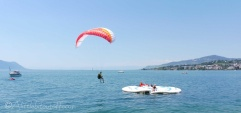 13 Parascender landing on the lake