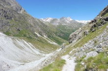 7 Looking back down the Arolla valley