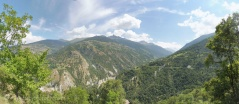 By happy coincidence this picture shows the route I took the other day, over the Pas de Lovégno (R) and the Col de Cou (L)