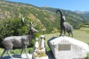 27 Stag and Bouquetin statues