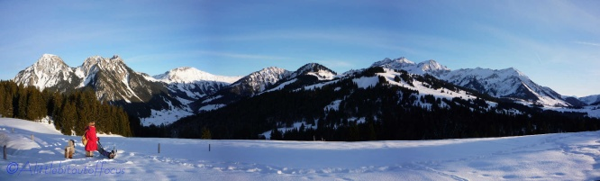 snoeshoeing-above-les-mosses