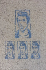 I'm not quite sure why these were on a wall in Sion - but, hey, Happy Days!