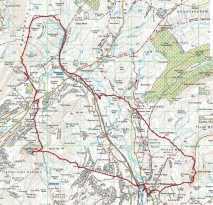 40 Yorkshire Three Peaks route map
