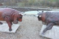 4 Cow statues