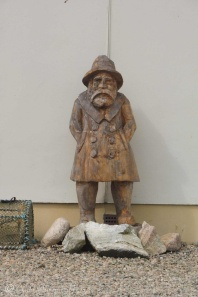 2 Carved fisherman