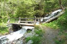 28 Bridge over gushing stream