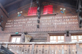 1 Chalet inscription