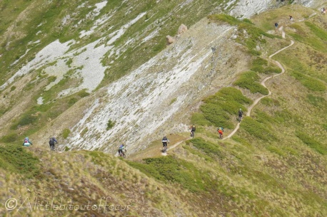 15 Mountain bikers descending