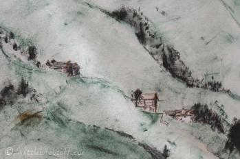 16 Part of Alpine scene painting