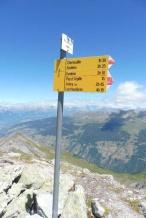 22 Summit signpost