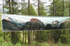 3 Mountain panorama painting
