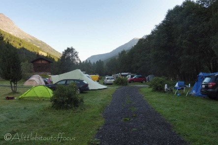 1 Mischabel Campsite, early morning