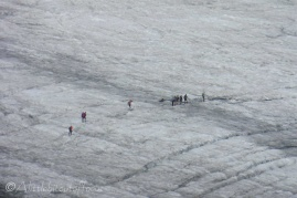 10 Walkers on Allalin glacier