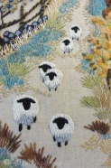12 Embrodered sheep