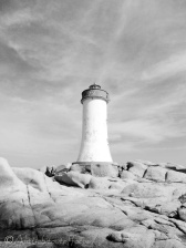 23 Capo d'Orso lighthouse (b&w)