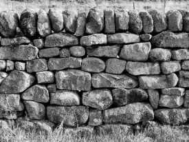 16 Drystone Wall (b&w)