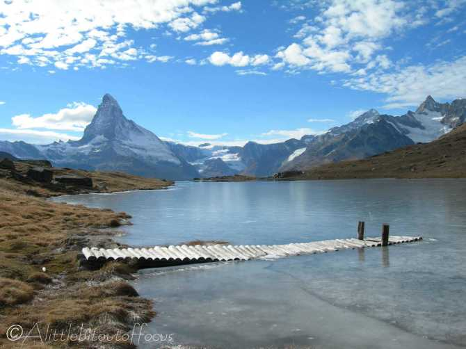 10 Frozen lake and the Matterhorn