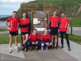 17 Colin, Pete, Liam, Dave, Tim and me, at the start of Wainwright's Coast to Coast