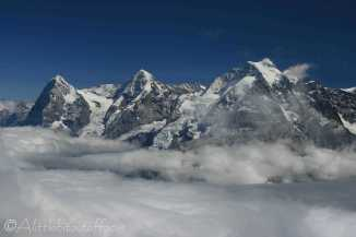 5 Eiger, Monch and Jungfrau from the Shilthorn