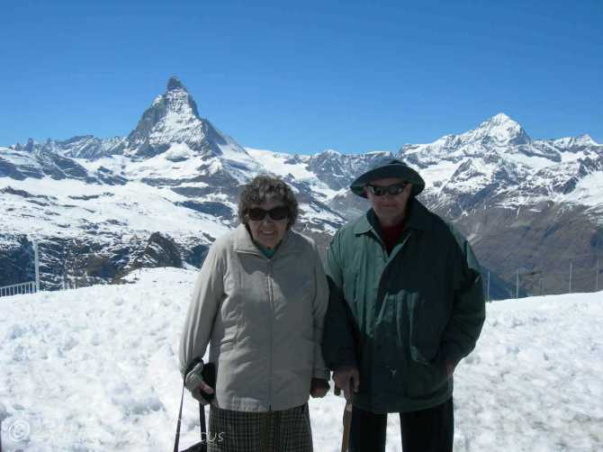 6 Mum and Dad, Gornergrat, nr Zermatt