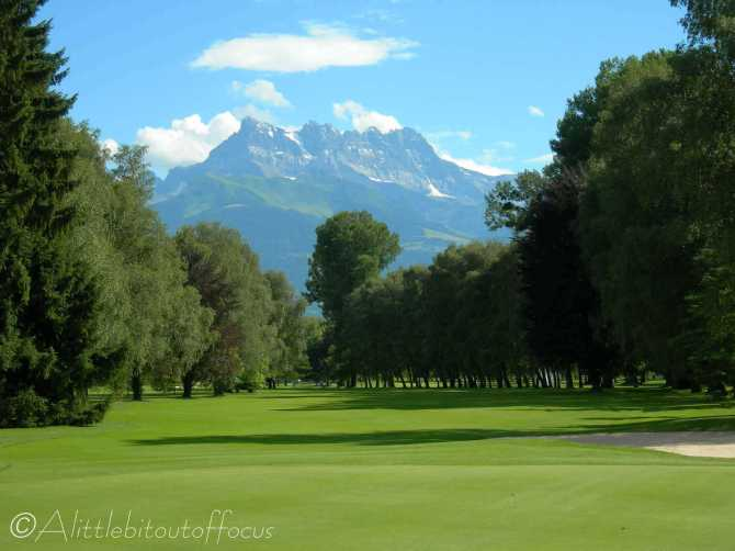 7 Montreux Golf Course, Aigle, with the Dent du Midi in the distance