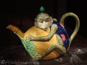 13 Monkey teapot - Minton, Staffs
