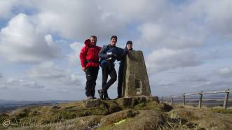 14 Me, Pete and Liam at the trig point