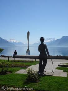 12 Charlie Chaplin admiring the view
