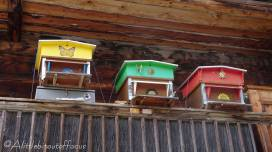14 Beehives on chalet balcony