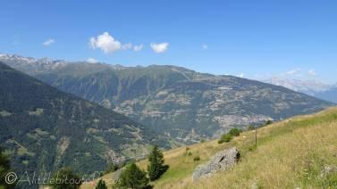5 View west to Thyon ridge