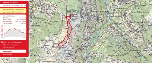 Thyon ridge walk map