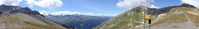 14 View south, west, north, Pas de Lona