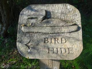 7 Aqualate mere bird hide sign