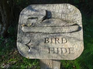 7 Aqualate mere bird hide sign
