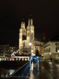 16 Grossmunster church by night