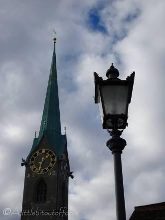 9 Fraumunster church clock tower