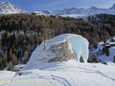 7 man-made ice climbing rock