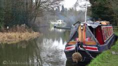 3 Canal boat on the Trent and Mersey canal