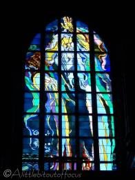 13 Stained glass window of St Francis' Basilica