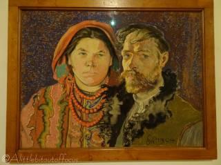 B8 Self-Portrait with Wife - Stanislaw Wyspianski
