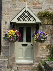 13 Doorway with hanging baskets