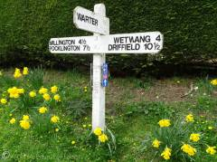 18 Village signpost (yes, there is a place called Warter)