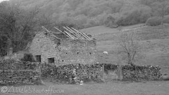 22 Dilapidated barn (b&w)