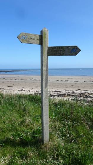 11 Coastal path sign