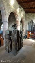 12 Wooden carvings, Lindisfarne church