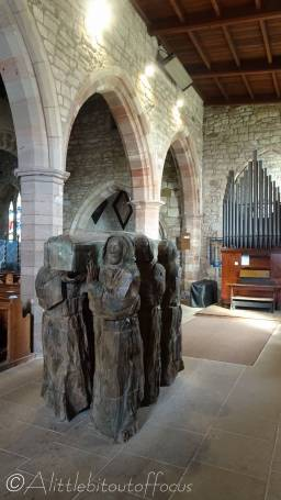12 Wooden carvings, Lindisfarne church