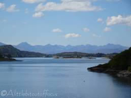 13 Distant Cuillin mountains on Skye