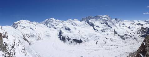 18 Monte Rosa, Liskamm, Castor and Pollux and Breithorn