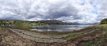 18 View of Lochcarron from Slumbay